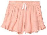 Tiny Whales Sunset Shorts (Toddler/Little Kids/Big Kids) (Coral) Girl's Shorts