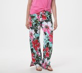 Denim & Co. Tall Beach Pull-On Pants with Side Slits