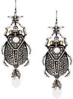 Alexander McQueen skull insect earrings