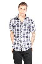 G Star Men's Landoh Shortsleeve Shirt In Timber Check Stretch