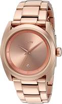 Nixon Women's 'Queenpin' Quartz Stainless Steel Automatic Watch, Color:-Toned (Model: A935897-00)