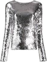 Andamane sequinned slim-fit top