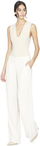 Alice + Olivia Eric Clean Wb Front Pleat Wideleg Pant