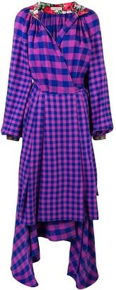 Natasha Zinko checked apron wrap dress