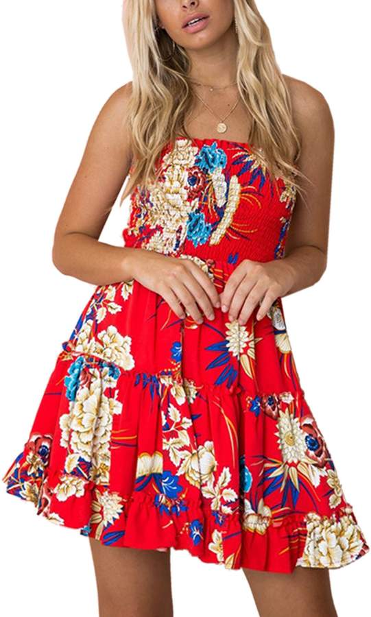 be7e0dacb58b Red Lined Skater Dress - ShopStyle Canada