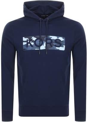 Michael Kors Camouflage Logo Hoodie Navy