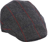 Christy Christys' Balmoral Wool Tweed Flat Cap, Charcoal/Red