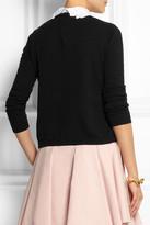 RED Valentino Swan-collar stretch-knit sweater