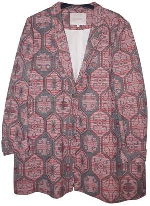 Maje Pink Cotton Jacket for Women