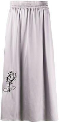 Soulland Liz rose embroidered skirt