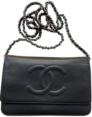 Chanel Wallet on Chain Anthracite Leather Handbags