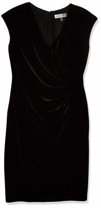 Kasper Women's Velvet V Neck Dress