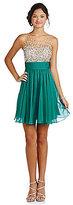 Jovani JVN By Illusion Bodice Beaded Dress