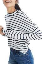 Madewell Stripe Long Sleeve Mock Neck Top