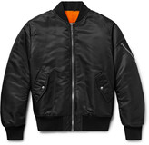 Calvin Klein MA-1 Shearling-Lined Shell Bomber Jacket