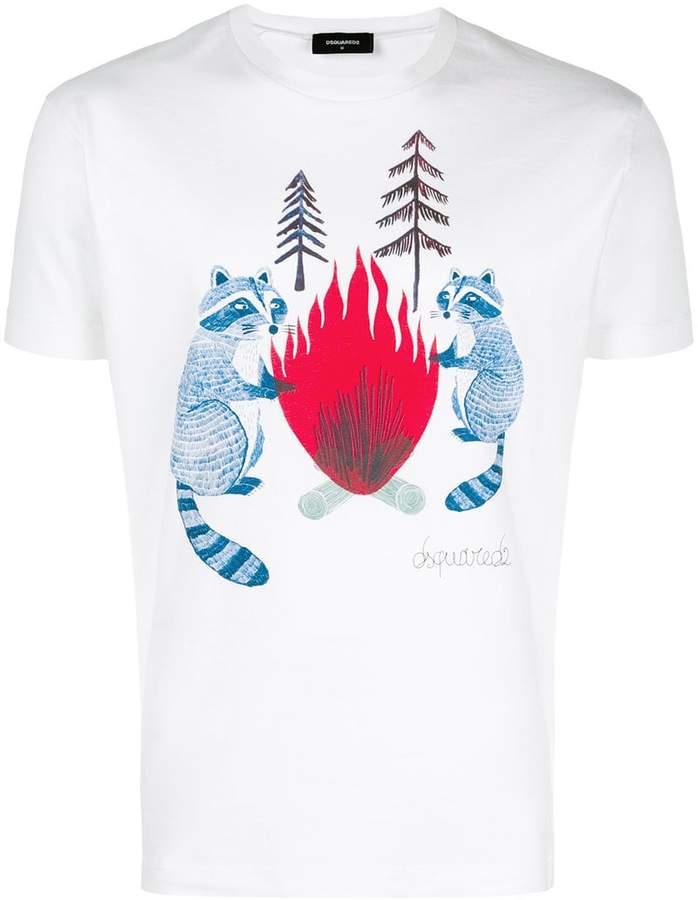 DSQUARED2 raccoon print T-shirt