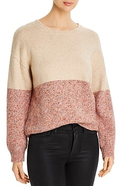 Cupcakes And Cashmere Carmel Color-Blocked Sweater