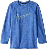 Nike Heather Swoosh Long Sleeve Hydroguard Boy's Swimwear