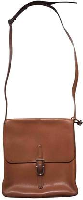 Delvaux Camel Leather Handbags