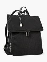 John Varvatos Embossed Nylon Fold-Over Backpack