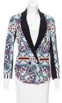 Clover Canyon Double-Breasted Printed Blazer