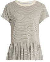 The Great The Ruffle striped T-shirt