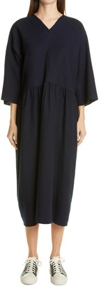Sofie D'hoore Washed Wool Midi Dress