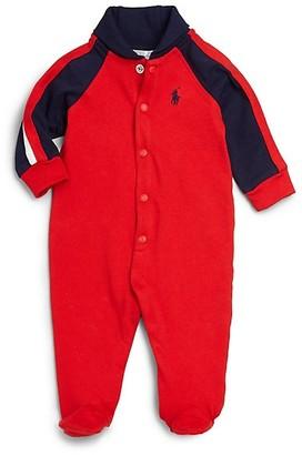 Ralph Lauren Baby Boy's Cotton Shawl-Collar Footie