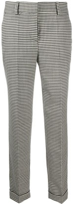 P.A.R.O.S.H. Lester gingham patterned cropped trousers