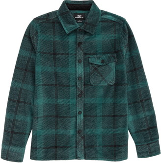 O'Neill Glacier Peak Plaid Flannel Button-Up Shirt