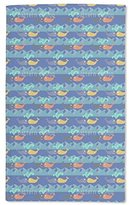 """uneekee Luxurious Microfiber Hand Towel -purpose Highly Absorbent Extra Soft Wash Cloth with Personalized """"Happy Whales"""" by Anny Cecilia Walter Custom Printed Hand Towels, 15.5"""" x 24.5"""""""
