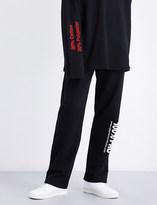 Vetements 100% Pro mid-rise cotton-jersey jogging bottoms