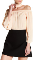 Reverse Off-the-Shoulder Bell Sleeve Blouse