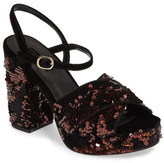 Topshop &Leona& Print Platform Sandal (Women)