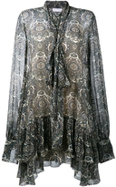 Chloé Oriental Tile Ruffle Dress