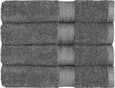 "700 GSM Premium Bath Towels Set (Grey, 4 Pack, 27"" X 54"") - Cotton for Hotel & Spa Maximum Softness and Absorbency by Utopia Towels"