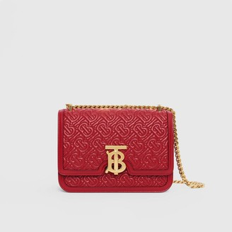 Burberry Small Quilted Monogram Lambskin TB Bag