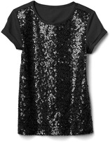 Gap Sequin shoulder top