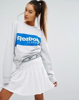 Reebok Classics Oversized Sweatshirt With Block Logo