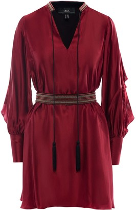Neck Detail Viscose Dress
