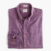 J.Crew Slim brushed flannel shirt in purple plaid
