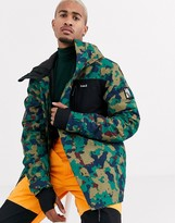Planks Feel Good Insulated ski jacket in camo-Green