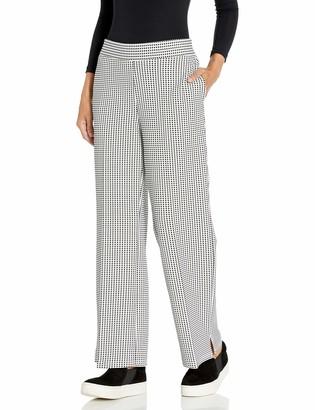 Nine West Women's Plus Size Knit Gingham Jacquard Pant