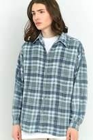 Urban Renewal Vintage Customised Powder Blue Plaid Flannel Shirt