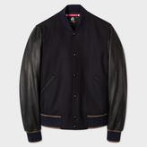 Paul Smith Men's Navy Wool-Cashmere Varsity Bomber Jacket