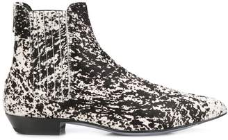Paul Smith animal print boots