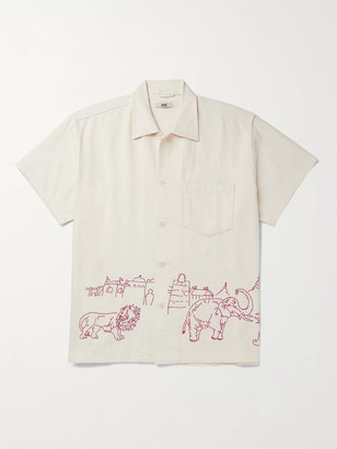 Bode Embroidered Cotton-Canvas Shirt