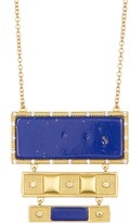 Freida Rothman 14K Gold Plated Sterling Silver CZ Lapis Necklace