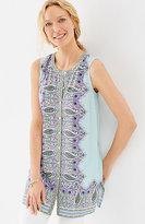 J. Jill Sleeveless Button-Front Tunic