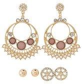 Charlotte Russe Embellished Stud & Chandelier Earrings - 3 Pack
